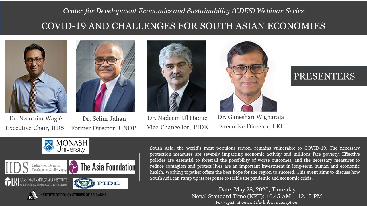 COVID-19 and Challenges for South Asian Economies
