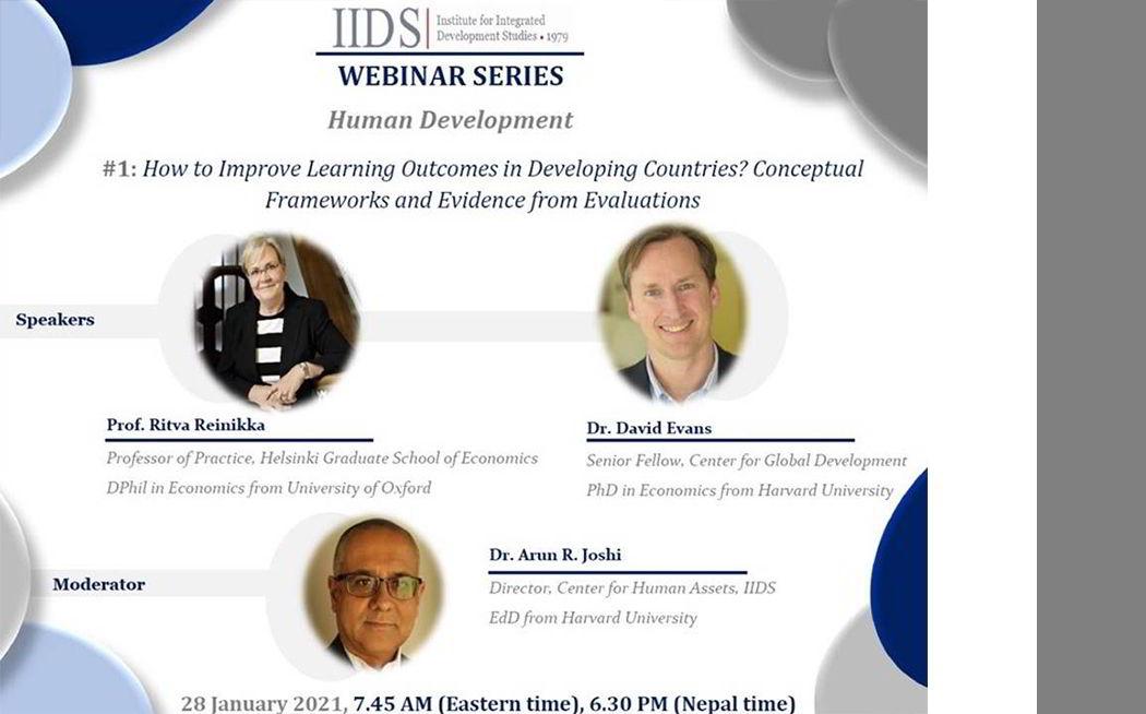 IIDS WEBINAR SERIES on Human Development