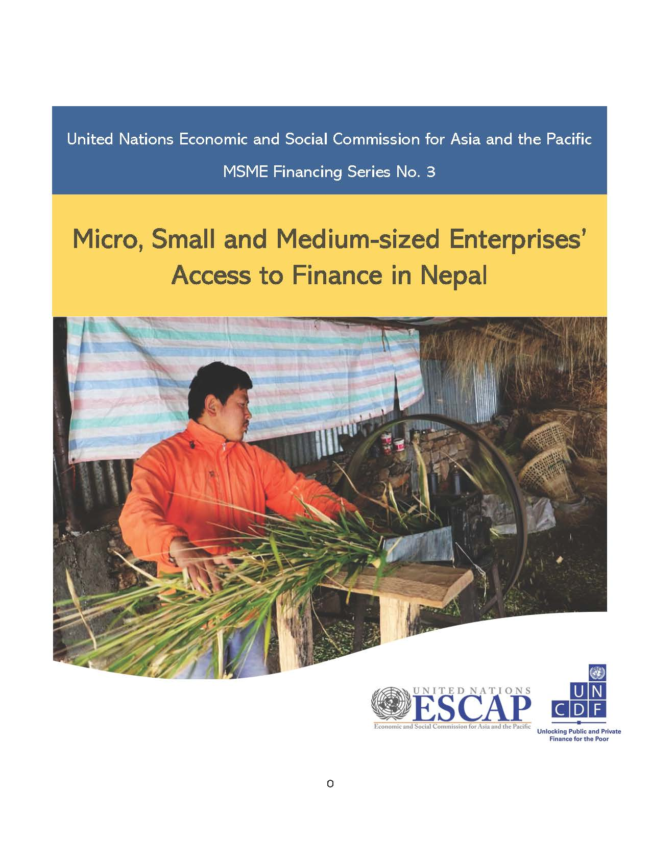 Micro, Small and Medium-sized Enterprises' Access to Finance in Nepal